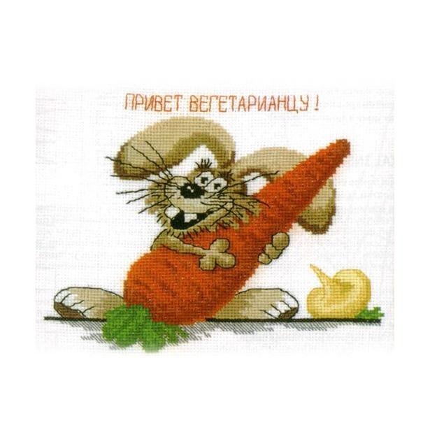 фото Набор для вышивания крестиком RTO «Привет вегетарианцу!»