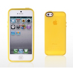 фото Чехол и пленка на экран для iPhone 5 Yoobao Protect Case. Цвет: желтый