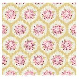 фото Отрез ткани Tilda Орнамент с большим цветком. Цвет: желтый