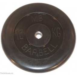 фото Диск MB Barbell для штанги. Диаметр отверстия диска: 25 мм. Вес в кг: 15 кг