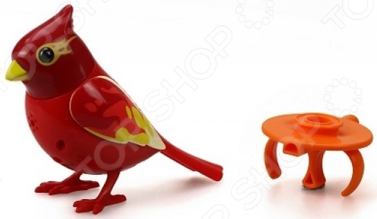 Игрушка интерактивная Silverlit «Птичка с кольцом». В ассортиментеДругие интерактивные игрушки и игры<br>Товар продается в ассортименте. Вид товара при комплектации заказа зависит от наличия товарного ассортимента на складе. Игрушка интерактивная Silverlit Птичка с кольцом станет отличным другом для ребенка. Выполненная из красивейшего яркого пластика и украшенная изящным узором она будет каждый день радовать глаз и дарить наслаждение от прослушивания птичьего щебета. Чтобы игрушка начала работать, на нее достаточно лишь подуть. А помочь птичке в пении поможет свисток, изготовленный в форме кольца. Он надевается на два пальца и может использоваться в качестве насеста для пташки. Игрушка работает от батареек 3хLR4 , можно прослушать 55 мелодий и птичий щебет. Подходит для детей от 3-х лет. В комплекте:  птица;  кольцо-свисток;  батарейки LR44 3 шт.<br>
