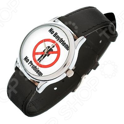 Часы наручные Mitya Veselkov «Нет парня - нет проблемы»Женские наручные часы<br>Не секрет, что правильно подобранные аксессуары вершат весь образ, добавляют ему законченности и помогают грамотно расставить цветовые акценты. Наручные часы же являются не просто стильным украшением, но и весьма функциональным аксессуаром. Именно поэтому, наряду с оригинальным дизайном и влиянием модных тенденций, при их выборе важно учитывать вид часового механизма и качество используемых материалов. Часы наручные Mitya Veselkov Нет парня - нет проблемы станут отличным дополнением к набору ваших аксессуаров. Модель отличается стильным дизайном и прекрасным качеством исполнения, хорошо сочетается с яркими нарядами и оригинальными украшениями. Корпус часов выполнен из минерального стекла и сплава металлов. Ремешок изготовлен из натуральной кожи, застежка классическая. Механизм часов кварцевый Citizen Япония .<br>