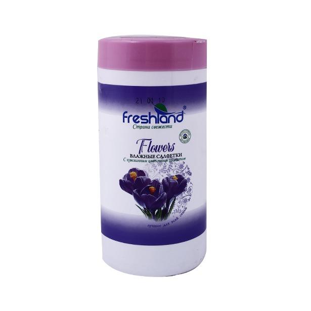 фото Набор салфеток влажных универсальных Freshland PK-850036-30 Flowers