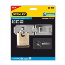 фото Замок навесной с засовом Stanley S 742-009 Professional Security 24/7