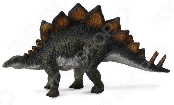 Фигурка Collecta «Стегозавр»Игрушечные животные<br>Фигурка Collecta Стегозавр это замечательный подарок вашему малышу! Игрушка изготовлена из прочного пластика, который абсолютно безвреден для ребенка. Модель раскрашена вручную и повторяет все тонкости фигуры лошади, поэтому прекрасно подойдет для изучения вашим ангелочком этого доисторического ящера. Фигурка украсит любую детскую комнату и принесет радость и веселье во время игр. Реалистичные копии от фирмы Collecta прекрасно подходят для различных инсталляций, диорам и пр. Фигурка Collecta Стегозавр поможет развить воображение, тактильные навыки, зрительную координацию и мелкую моторику рук.<br>
