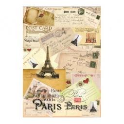 Купить Декупажная карта Karalliki «Письма из Парижа»