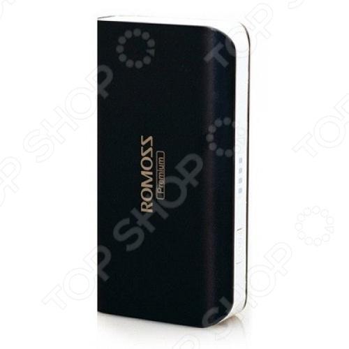 Внешний аккумулятор Romoss Sailing 2Внешние зарядные устройства<br>Внешний аккумулятор Romoss Sailing 2 разработан на основе инновационной технологии FitCharge и совместим с планшетами, смартфонами, МР3 и МР4-плеерами. Устройство снабжено встроенным выходом на 2,1 А, что обеспечивает полную зарядку аккумулятора всего за 3,5 часа, в то время как обычно для этого требуется около 7-ми часов. Среди явных преимуществ предлагаемого аккумулятора можно отметить:  небольшой размер 1 2 iPhone ;  возможность одновременной зарядки аккумулятора и ваших устройств;  высокий уровень защиты от замыкания, от перезаряда, от перегрузки по току, от сброса и от перегрузки напряжения ;  автоматическое отключения в случае неиспользования в течение 1 минуты;  наличие светодиодного индикатора заряда аккумулятора;  наличие светодиодного фонарика.<br>