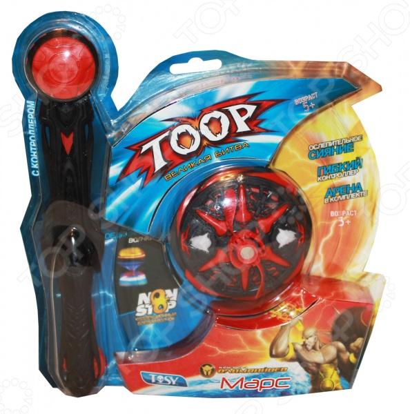 Волчок Tosy с контроллером «Марс»Другие игрушки<br>Волчок Tosy с контроллером Марс увлекательная игрушка для вашего ребенка. Боевой волчок с контроллером Марс служит оружием для героя. Прикрепите волчок к пусковому устройству и дерните за шнур. Специальная конструкция позволяет волчку вращаться очень долго.<br>