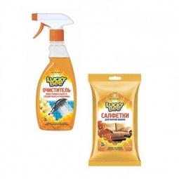 фото Набор для уборки Lucky Bee очиститель для плитки LB 7503 и салфетки для мягкой обивки LB 7304