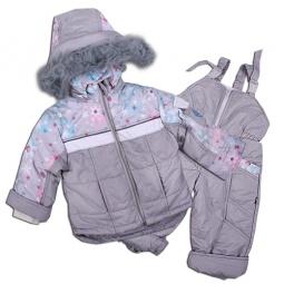 Купить Комплект для мальчиков: куртка, жилет и полукомбинезон Даримир Winter. Цвет: жемчужный