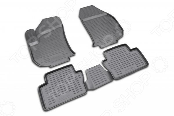 Комплект ковриков в салон автомобиля Novline-Autofamily Opel Zafira 2005Коврики в салон<br>Комплект ковриков в салон автомобиля Novline Autofamily Opel Zafira 2005, созданные для сохранения чистоты в салоне автомобиля. Обладают повышенной прочностью, износостойкостью и очень удобны в использовании. Эти коврики станут неотъемлемой частью вашего автомобильного интерьера. Края обработаны высокопрочной крученой нитью. Преимущества: новый полимерный материал, коврики оснащены фиксаторами, защита от западания педали газа, антискользящий рельеф, идеальная подходимость.<br>