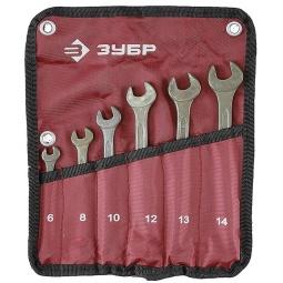 фото Набор ключей комбинированных Зубр Т-80 27025-H6