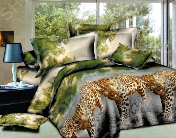 Комплект постельного белья Amore Mio Ohota. Mako-Satin. 1,5-спальный1,5-спальные<br>Комплект постельного белья Amore Mio Ohota. Mako-Satin это удобное постельное белье, которое подойдет для ежедневного использования. Чтобы ваш сон всегда был приятным, а пробуждение легким, необходимо подобрать то постельное белье, которое будет соответствовать всем вашим пожеланиям. Приятный цвет, нежный принт и высокое качество ткани обеспечат вам крепкий и спокойный сон. 100 полиэстер, из которого сшит комплект отличается следующими качествами:  достаточно мягка и приятна на ощупь, не имеет склонности к скатыванию, линянию, протиранию, обладает повышенной гигроскопичностью, практически не мнется, не растягивается, не садится, не выгорает, гипоаллергенна, хорошо отстирывается и не теряет при этом своих насыщенных цветов;  ворсинки равномерно распределяют статическое электричество;  это самая современная фотопечать, которая прекрасно передает цвет и мельчайшие детали изображения;  за счёт специального переплетения волокон ткань устойчива к механическим воздействиям. Перед первым применением комплект постельного белья рекомендуется постирать. Перед стиркой выверните наизнанку наволочки и пододеяльник. Для сохранения цвета не используйте порошки, которые содержат отбеливатель. Рекомендуемая температура стирки: 40 С и ниже без использования кондиционера или смягчителя воды.<br>