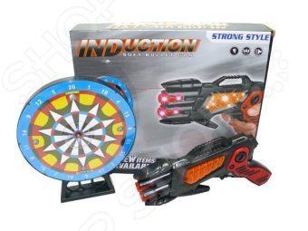 Оружие игрушечное Shantou Gepai с ИК датчиком «Тир с пистолетом»Другое игрушечное оружие<br>Оружие игрушечное Shantou Gepai с ИК датчиком Тир с пистолетом понравится любому ребенку, увлекающемуся играми в войнушки . Внешний вид пистолета напоминает пистолеты из знаменитых фильмов и мультиков. Пистолет позволит вашему ребенку играть с друзьями в различные подвижные игры, которые способствуют физическому развитию малыша, а игра в команде развивает дух здорового соперничества. В набор также входит мишень.<br>