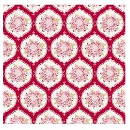 фото Отрез ткани Tilda Орнамент с большим цветком. Цвет: красный