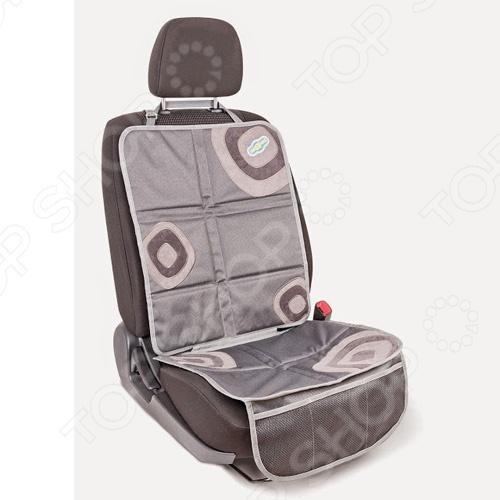 Накидка защитная на спинку сидения для малыша Autoprofi Смешарики ЯВ117622 позволяет использовать детское автокресло, при этом не нанося повреждений автомобильным сиденьям. Прочный материал защищает от вмятин, дырок и загрязнений, а для более надёжной фиксации в накидках под детское автокресло используется специальный язычок и антискользящее покрытие на тыльной стороне. Наличие удобного сетчатого кармана в накидке под детское автокресло делает его более функциональным. Яркие весёлые рисунки отлично сочетаются с такими же позитивными детскими автокреслами Смешарики .