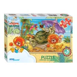 фото Пазл 104 элемента Step Puzzle «Львенок и черепаха»