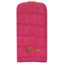 фото Чехол Guess Flip Case Croco для Samsung S3 Mini. Цвет: розовый