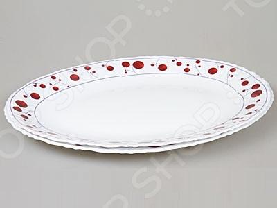 Каждая хозяйка знает насколько важна в кулинарии сервировка и правильная подача блюд. От того как блюдо оформлено, в какой посуде подано и как смотрится на тарелке, зависит едва ли не половина вашего успеха. Набор тарелок Rosenberg 1220-496 станет прекрасным дополнением к комплекту кухонных принадлежностей и подойдет для сервировки как обеденного, так и праздничного стола. Тарелки имеют овальную форму, выполнены из ударопрочного стекла и декорированы оригинальным рисунком. В наборе две штуки.