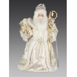 фото Игрушка новогодняя Holiday Classics «Дед Мороз в кремовой шубе»