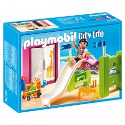фото Конструктор игровой Playmobil «Особняки: Детская комната с двухъярусной кроватью-горкой»