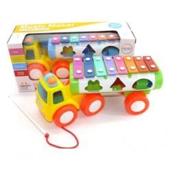 фото Машина-каталка развивающая Shantou Gepai «Ксилофон». Габариты: 295x110x140