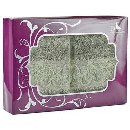 фото Набор из 2-х полотенец Primavelle Deni. Размер: 50х90 см, 70х140 см. Цвет: зеленый чай