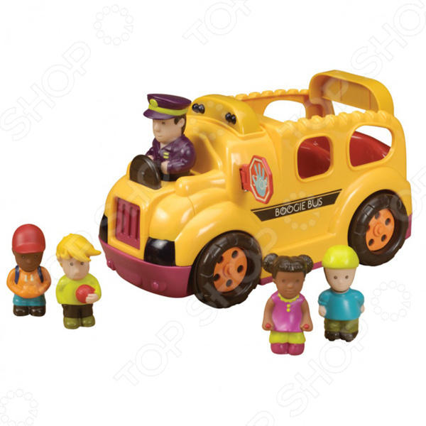 Машинка игрушечная B Dot «Школьный автобус»Машинки<br>Машинка игрушечная Школьный автобус это реалистичная копия настоящего спец.транспорта. Модель выпущена известной компанией по производству игрушек B Dot. Автомобиль изготовлен из качественного пластика и обладает прекрасной детализацией. Боковая дверь открывается и закрывается в аварийной ситуации. Игра на детской площадке или в песочнице надолго займет малыша и не даст ему заскучать. Яркий автомобиль разнообразит игровые ситуации, откроет новые сюжеты для маленького автолюбителя и поможет развить воображение, мелкую моторику рук, внимание и координацию движений. Для работы автобуса требуются 3 батарейки АА-типа входят в комплект . Имеется функция автоматического отключения. Не упустите шанс порадовать ребенка замечательным подарком!<br>