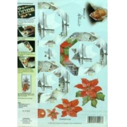 Купить Набор для создания открытки Reddy Creative Cards «Ветряная мельница и пуансеттия»