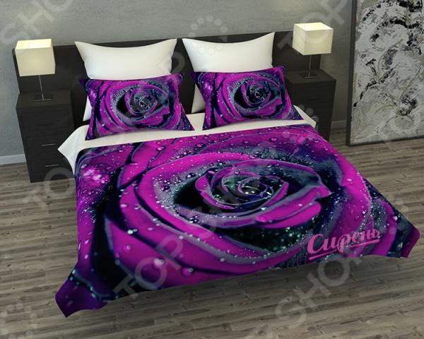 Покрывало Сирень «Пурпурная роза»Покрывала<br>Покрывало Сирень Пурпурная роза элемент, способный украсить и оживить интерьер любой комнаты. Дополните ваш диван или кровать этим покрывалом, и привычная мебель станет еще уютнее, чем раньше. При этом такое изделие может стать хорошим подарком близкому человеку. Оцените основные преимущества покрывала из коллекции бренда Сирень :  Оригинальный дизайн придаст изюминку интерьеру вашей гостиной или спальной комнаты.  Сделано из качественных износостойких материалов. Изображение на ткани долго не линяет и не выгорает.  Рисунок нанесен на материал при помощи специальной технологии, создающей эффект 3D. Смотрится очень эффектно. Покрывало выполнено из ткани габардин, состоящей на 100 из полиэстера. На поверхности полотна заметны диагональные рубчики, полученные в результате саржевого плетения в процессе производства. В результате изделие отличается своей прочностью и долговечностью, сохраняет первоначальный вид в течение длительного времени. Рекомендуется ручная стирка при температуре 30 C или в стиральной машине в деликатном режиме.<br>