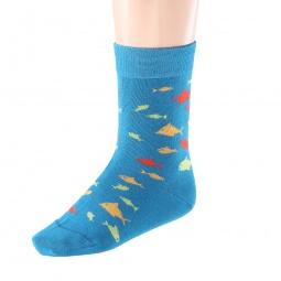 Купить Комплект детских носков Teller Arrows And Fish. Цвет: сине-зеленый