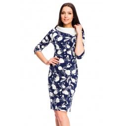 фото Платье Mondigo 5084-1. Цвет: темно-синий. Размер одежды: 42