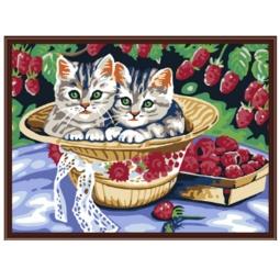 Купить Набор для рисования по номерам «Белоснежка» Котята в саду
