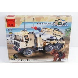 фото Конструктор игровой для ребенка Brick «Автомобиль с ракетой» 822