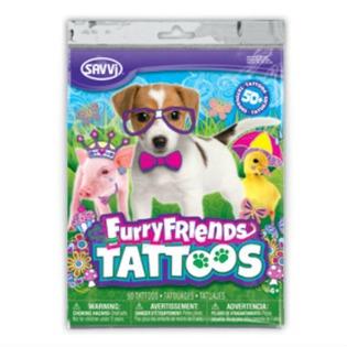 Купить Татуировки временные для девочек Savvi «Пушистые друзья»