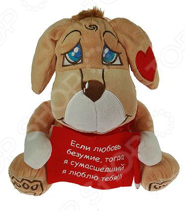 Мягкая игрушка-сувенир «Валентинка. Если любовь безумие, тогда я сумасшедший»Подарки для второй половинки<br>Мягкая игрушка-сувенир Валентинка. Если любовь безумие, тогда я сумасшедший милая игрушка, которая станет приятным подарком для близкого человека. Такой подарок принесет радость, а также напомнит о памятных моментах из жизни. Игрушка сделана из абсолютно безвредных для здоровья материалов. Материал не выгорает на солнце и невероятно мягок. Восстанавливает форму после сминания.<br>