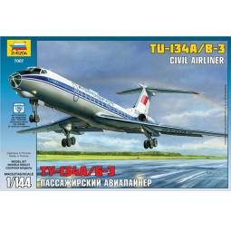 фото Сборная модель Звезда Пассажирский авиалайнер «Ту-134»