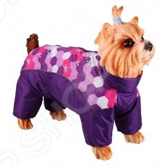Комбинезон-дождевик для собак DEZZIE «Ши-тцу». Цвет: фиолетовый