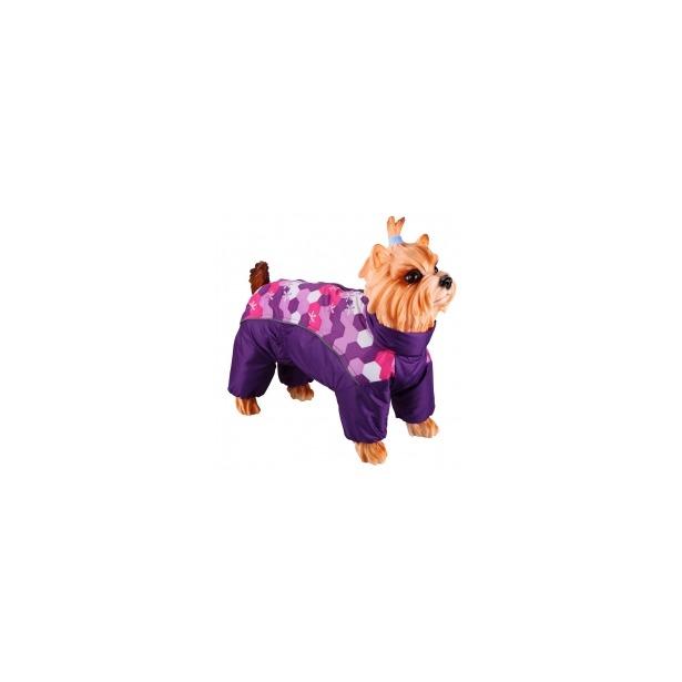 фото Комбинезон-дождевик для собак DEZZIE «Ши-тцу». Цвет: фиолетовый
