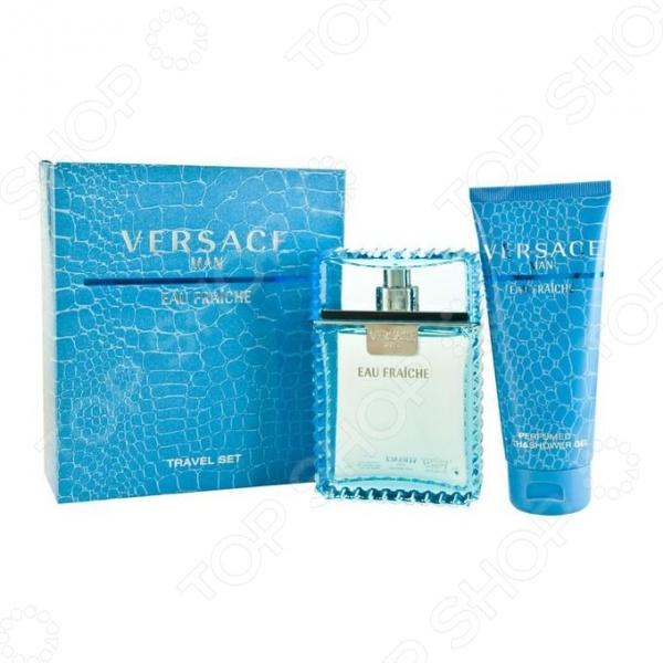 Набор мужской: туалетная вода и гель для душа Versace Eau Fraiche, 50 мл, 30 мл gucci gucci женская туалетная вода flora eau fraiche 82421489 75 мл