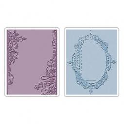 фото Набор форм для эмбоссирования Sizzix Texture Fades Цветочные рамки