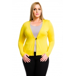 фото Жакет Mondigo XL 426. Цвет: желтый. Размер одежды: 52