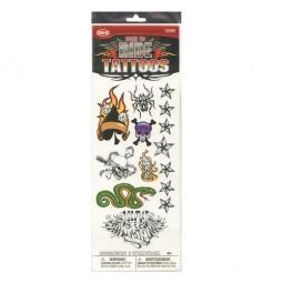 фото Татуировки временные для мальчика Savvi «Черепа и змеи». Количество: 8 предметов