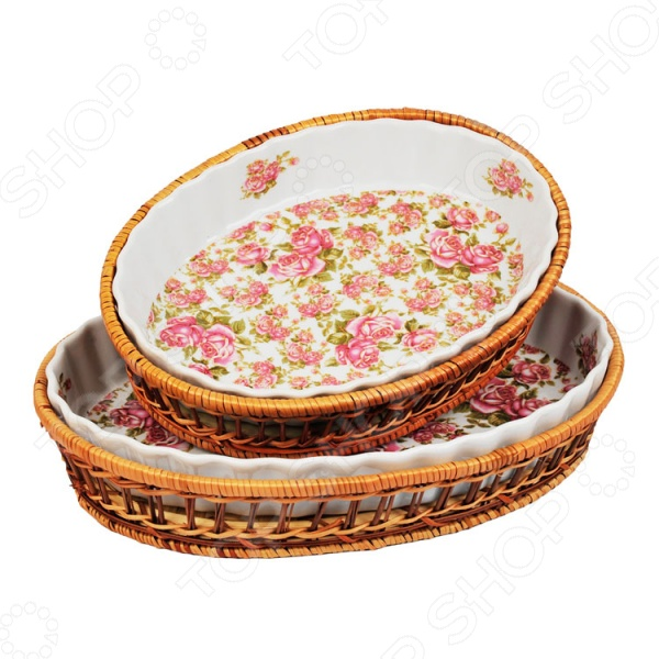 Набор форм для выпечки керамических Mayer&Boch «Розы» MB-24801