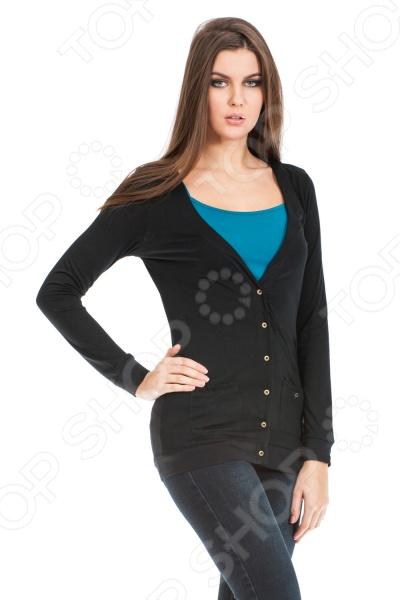Жакет Mondigo 18505. Цвет: черныйЖакеты. Пиджаки<br>Жакет Mondigo 18505 представляет собой стильный элемент верхней одежды приталенного покроя с V-образным вырезом горловины и длинными рукавами. Модель преимущественно выполнена из полиэстера, потому отличается износостойкость, легкостью и неприхотливостью. Такой жакет будет отличной вещью в гардеробе каждой модницы и отлично подойдет как для каждодневного использования, так и для особых случаев.<br>