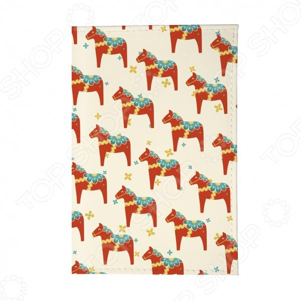 Обложка для паспорта Mitya Veselkov «Много скандинавских лошадок»