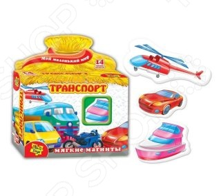 Игра развивающая на магнитах Vladi Toys «Транспорт» 29981