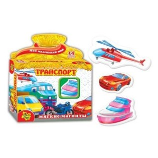 Купить Игра развивающая на магнитах Vladi Toys «Транспорт» 29981