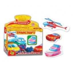 фото Игра развивающая на магнитах Vladi Toys «Транспорт» 29981