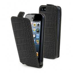 фото Чехол и пленка на экран Muvit Slim Croco для iPhone 5. Цвет: черный